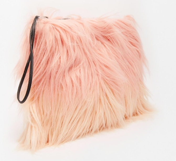 Faux Fur Clutch in Pastel Pink Ombre, £36, Story of Lola. www.asos.com