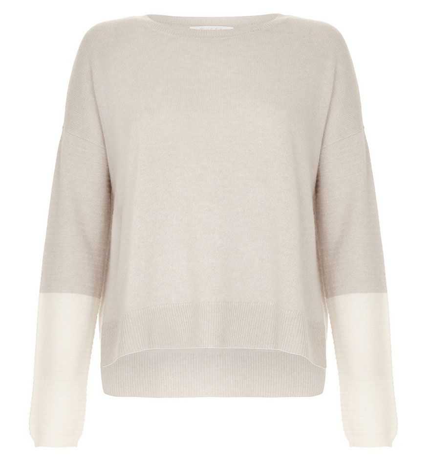 Ribbed Contrast Cuff Sweater, £205, Duffy. www.luxe-layers.com