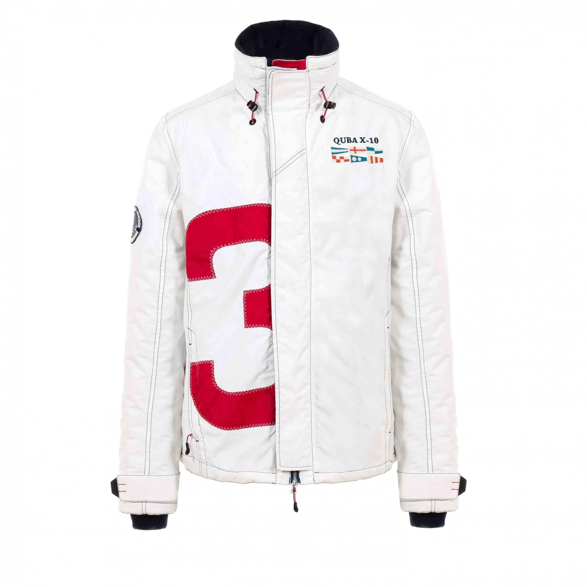 X-10 Men's Jacket - White & Red, £250, www.quba.com