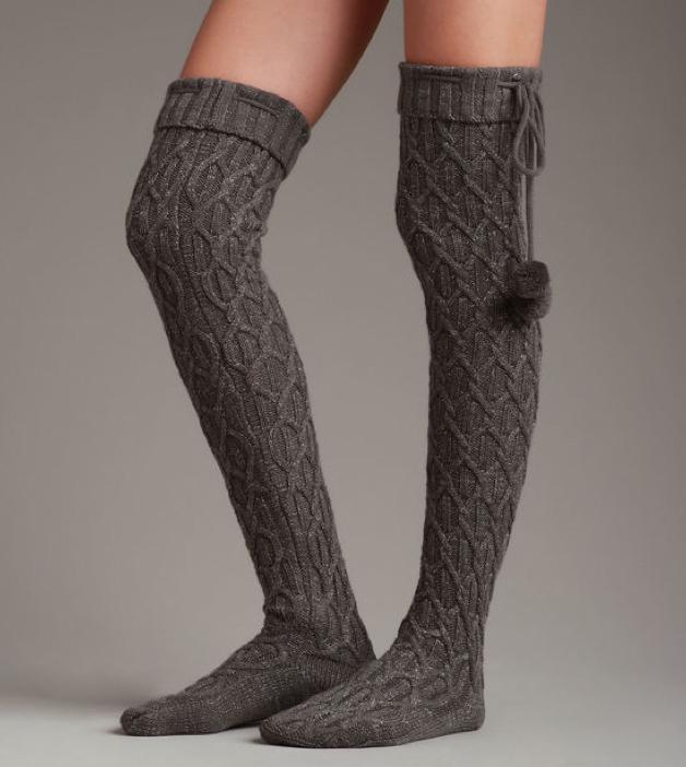 Sparkle Cable Knit Sock, £30, Ugg. www.uggaustralia.co.uk