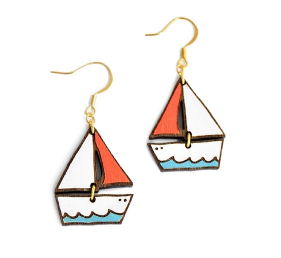 Dreamy Boat earrings, £17, Materia Rica. www.wolfandbadger.com