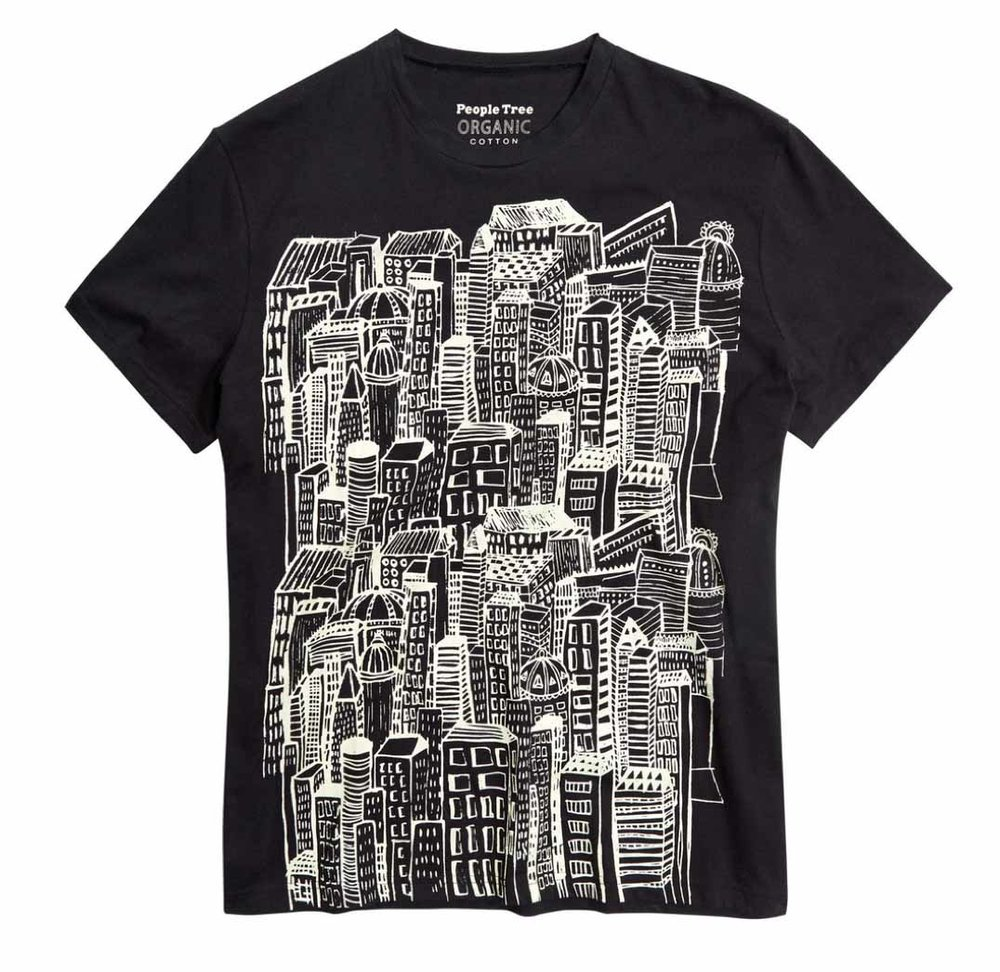 Fairtrade Rooftops T-Shirt, £32, People Tree.