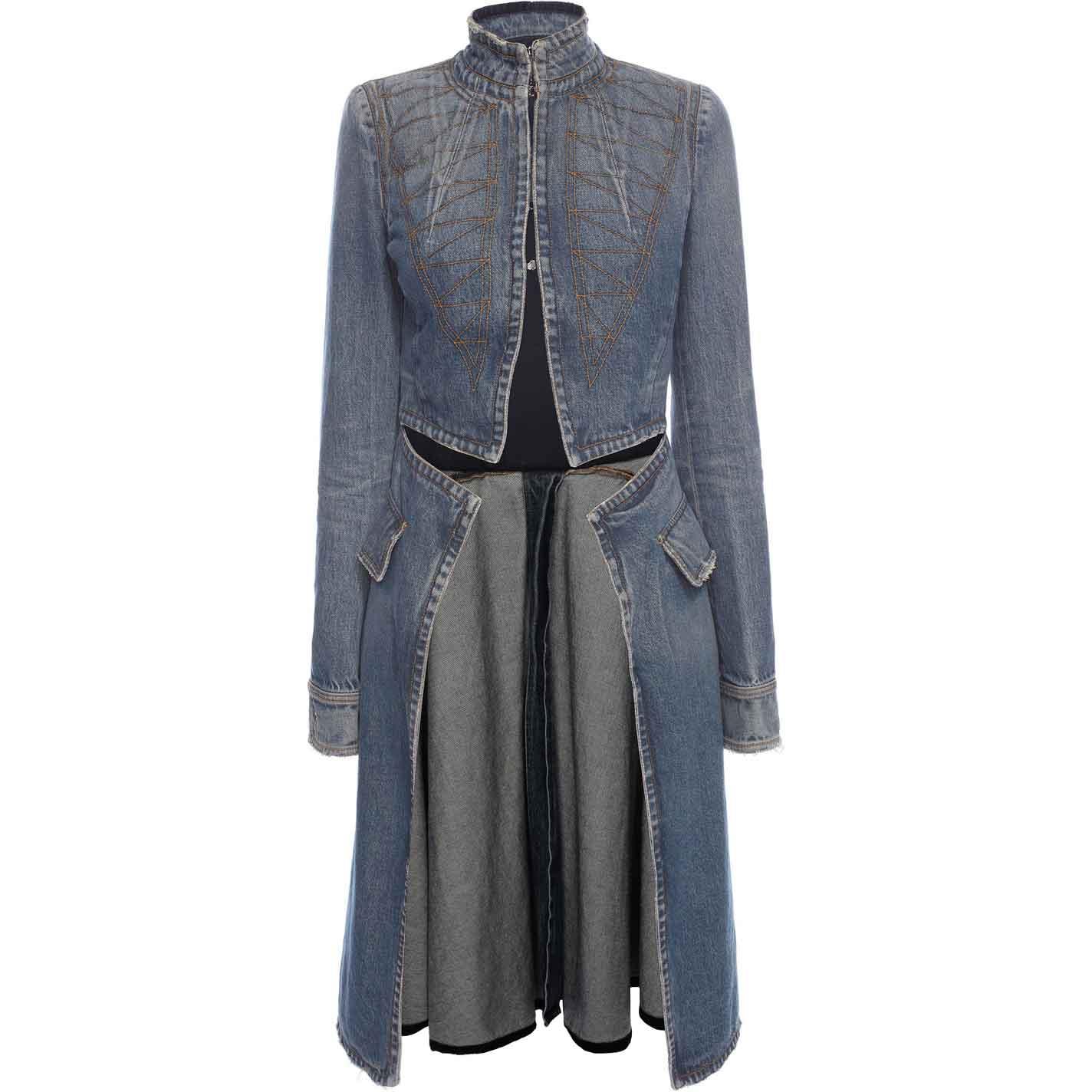 Denim Frock Coat, £1,595, Alexander McQueen.