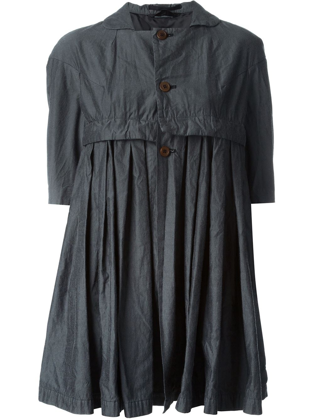 Short sleeved jacket, £840, by Comme Des Garçons. www.farfetch.com