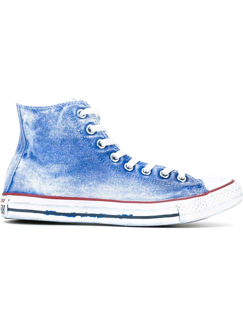 Denim high top sneakers, £92.42, Converse. www.farfetch.com