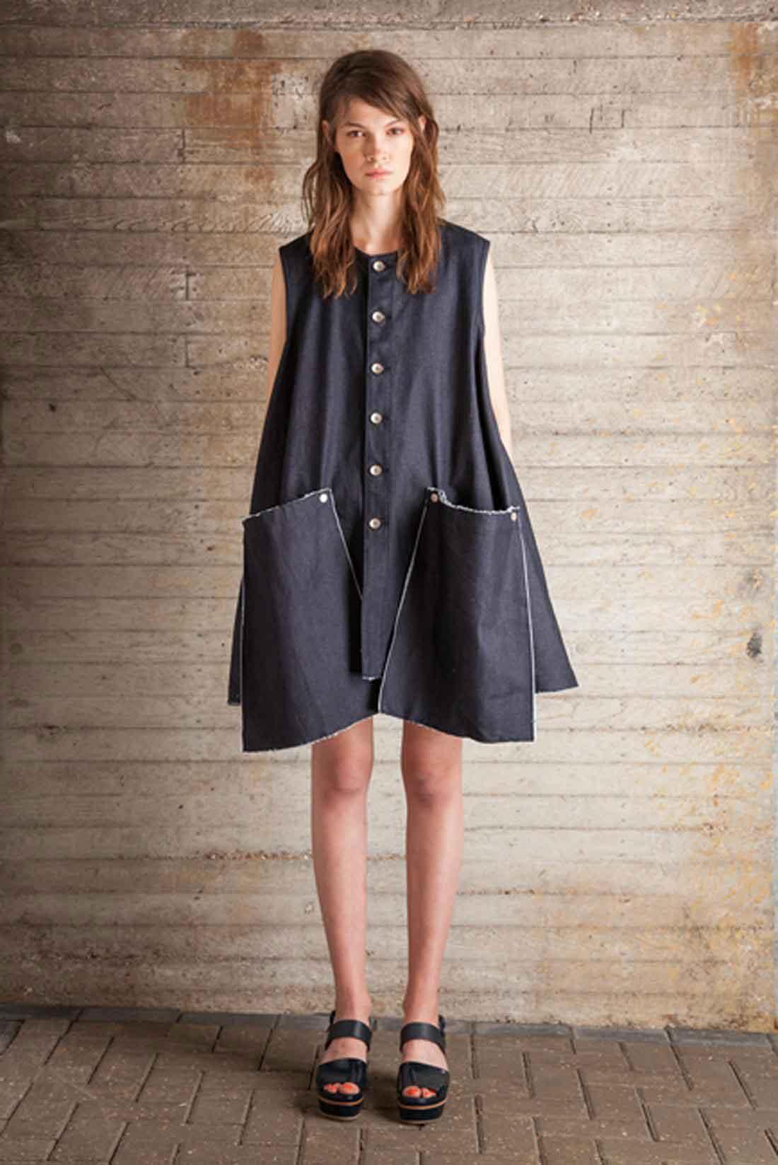 Indigo Blue Denim Babydoll Dress, £175, Jena.Theo. www.youngbritishdesigners.com