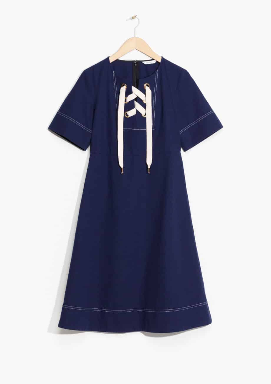 Cotton Lace-Up Dress, £65, & Other Stories. www.stories.com