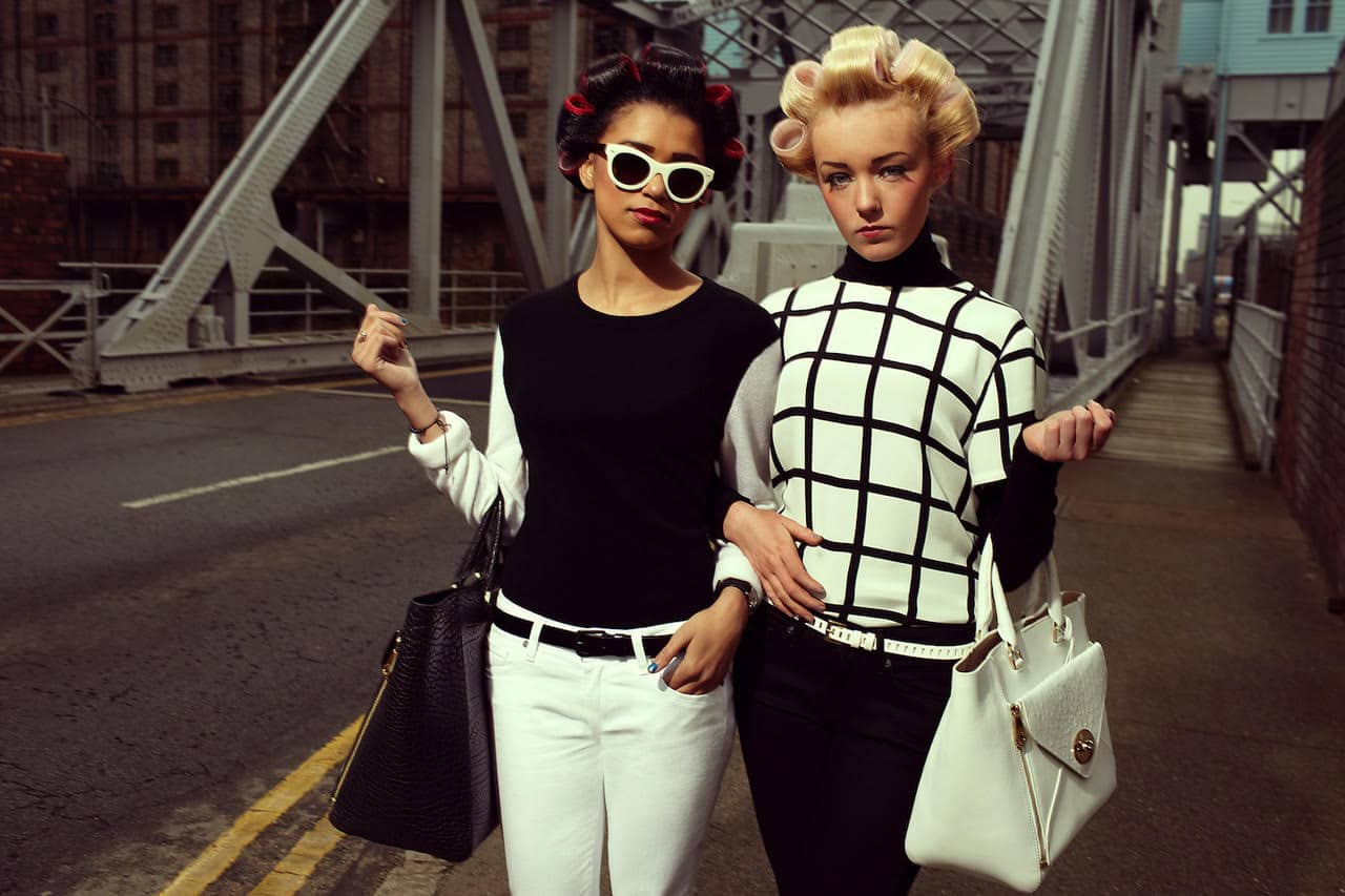 Derrin Crawford and Demi-Leigh Cruickshank in 'The Liver Birds', LOVE magazine, Liverpool, 2012. Photograph: Alice Hawkins