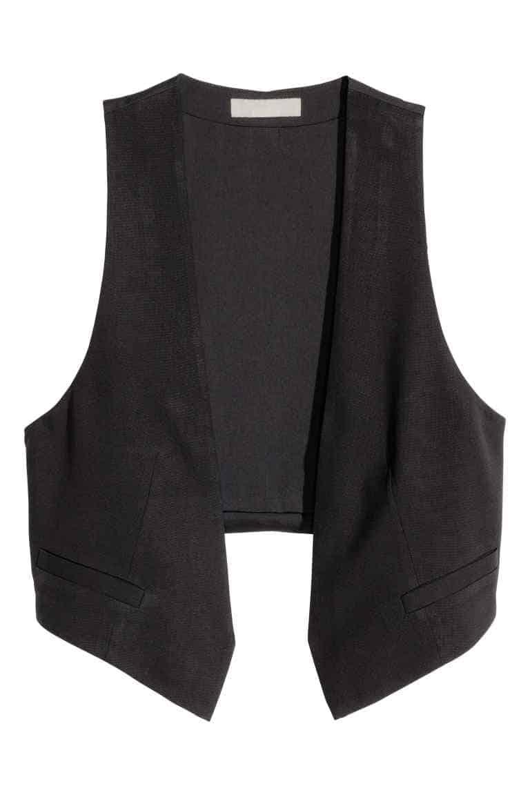 Short waistcoat, £14.99, H&M. www.hm.com