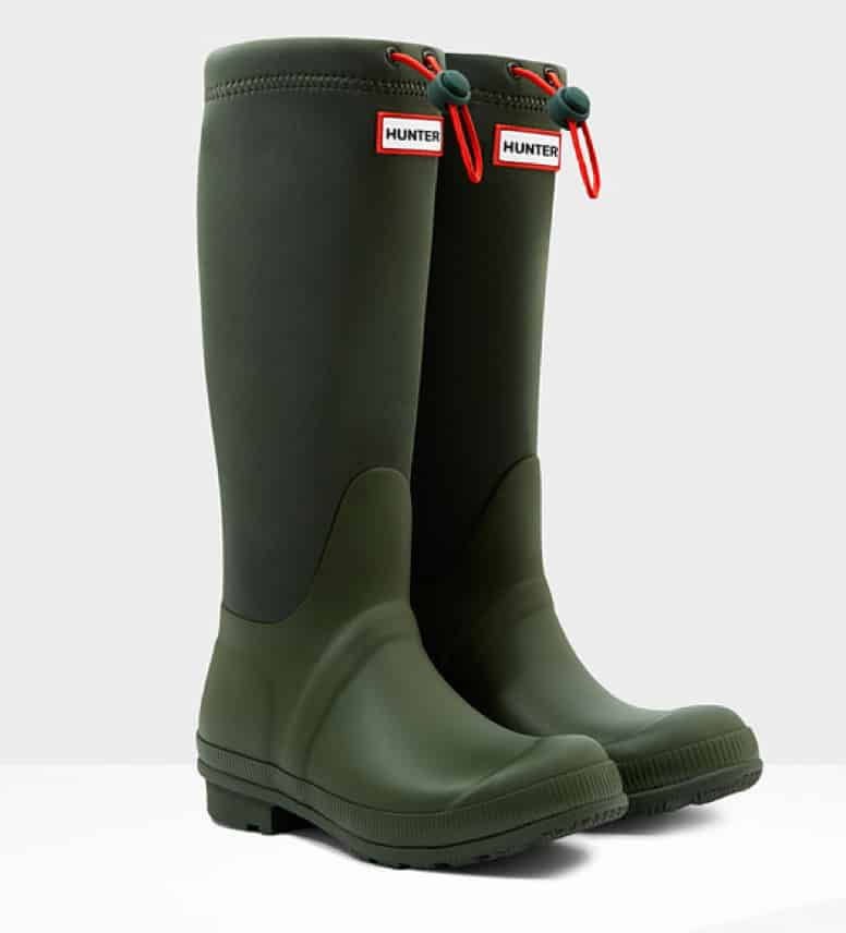 Women's original tour neoprene wellington boots, was £120, now £60, Hunter. www.hunterboots.com