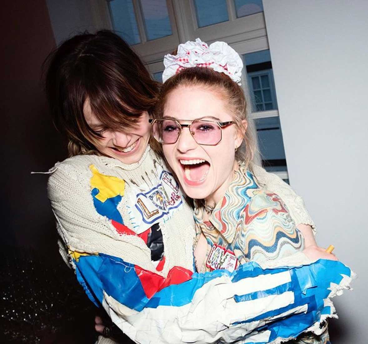 Edie Campbell and Christabel MacGreevy of Itchy Scratchy Patchy at Dover Street Market. Picture: Instagram.