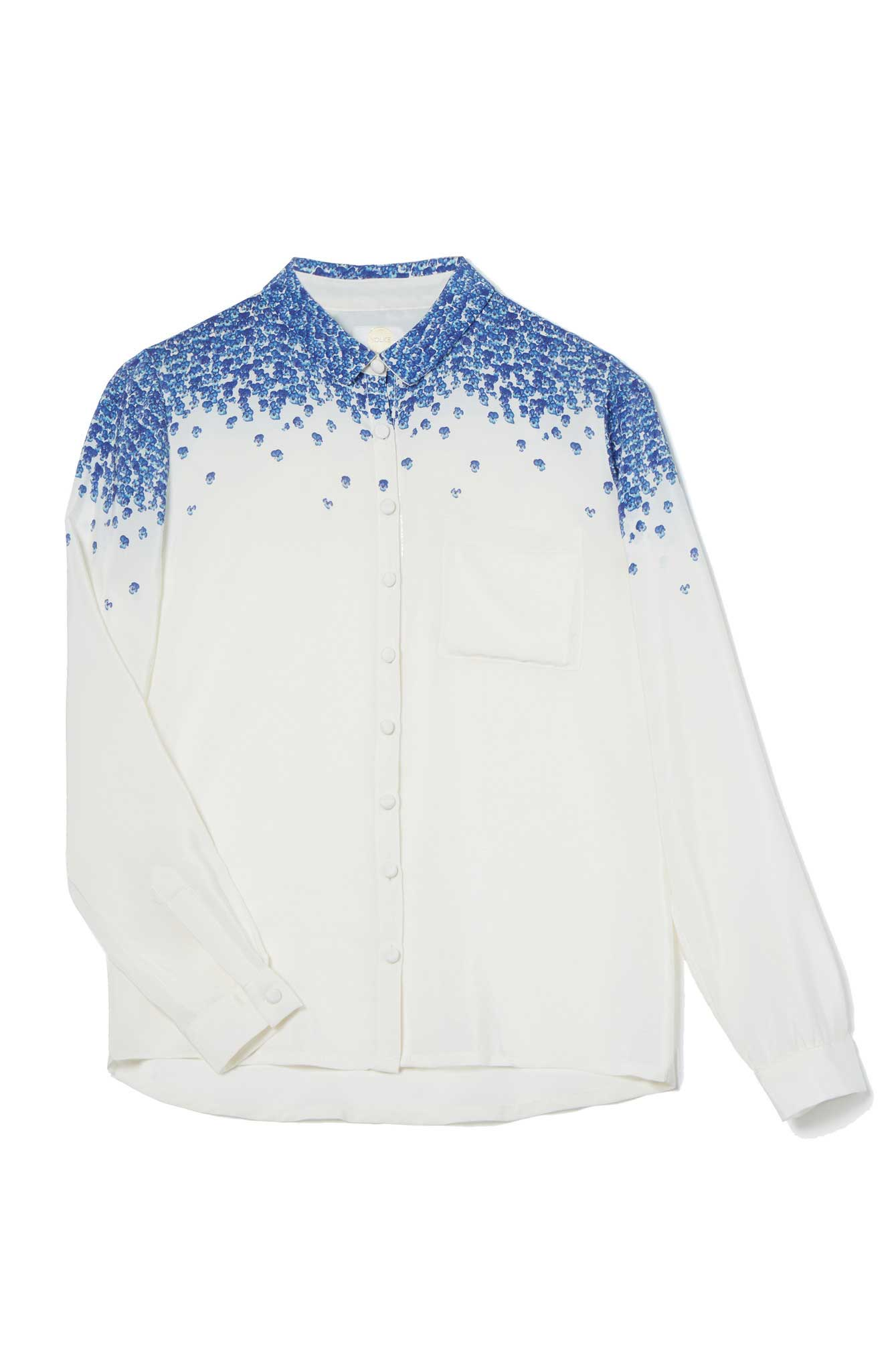 Nashville Silk Shirt Ice, £175, Yolke. www.yolke.co.uk