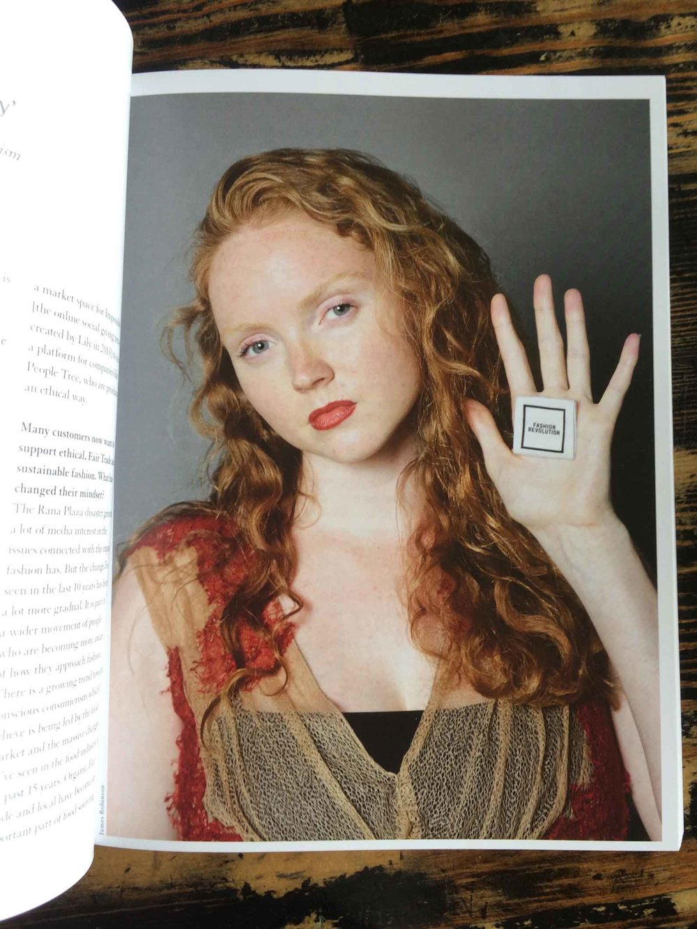 """We can't expect the movement to become mainstream if we compromise on quality."" Lily Cole on Slow Fashion."