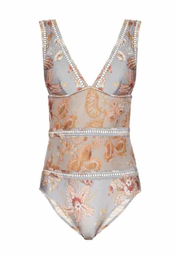 Pavilion Ladder sheer inserts swimsuit, £270, Zimmermann. www.matchesfashion.com