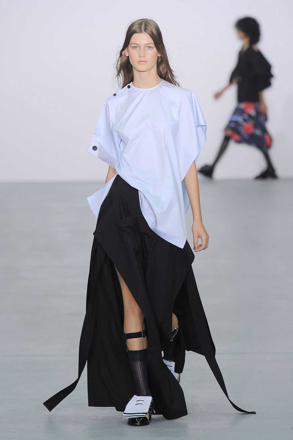 'Eudon Choi looks up to the oeuvre of late American artist Francesca Woodman.' Eudon Choi SS17. Picture: Indigital.
