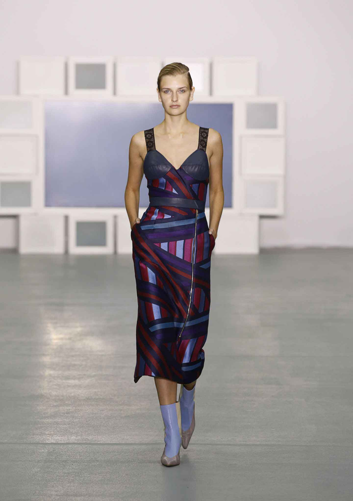 'The stand out pieces were the more simple ones.' Teatum Jones SS17. Picture: Indigital.