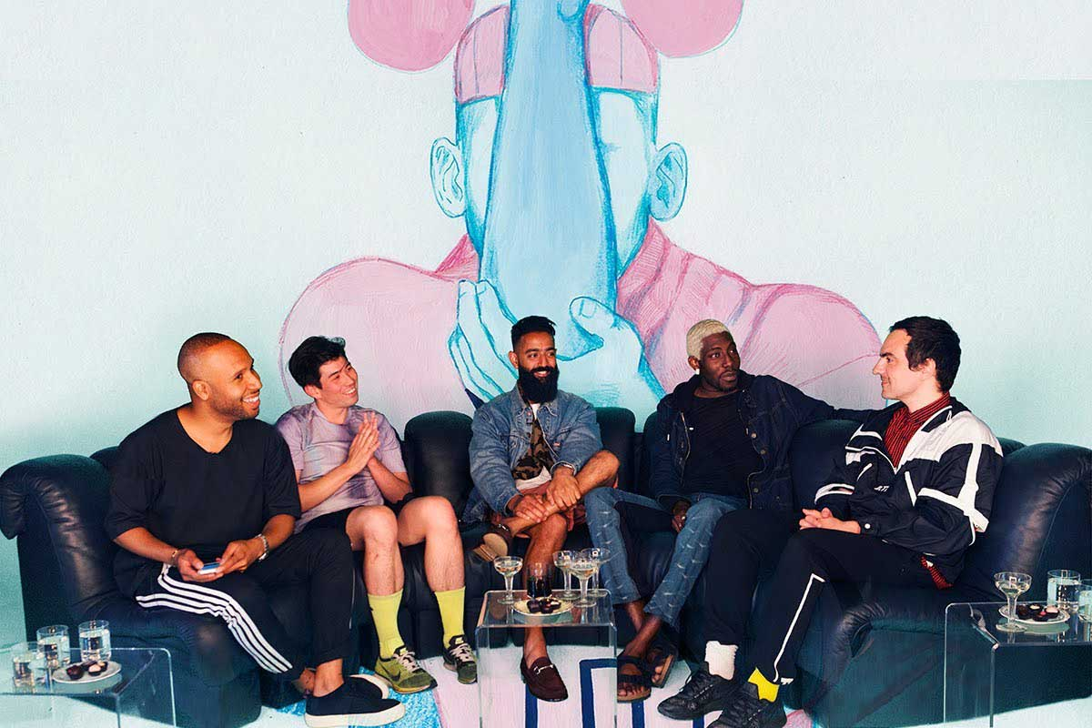 Daryoush Haj-Najafi hosts a menswear panel at SHOWStudio.