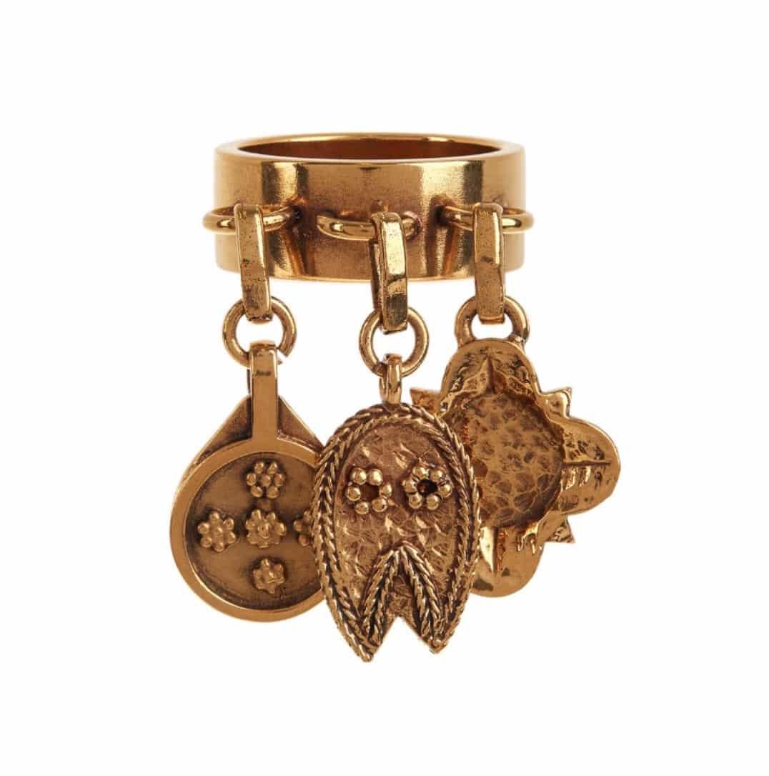 CHLOE. Gold-tone brass Lyzbeth ring, £215. <a href=