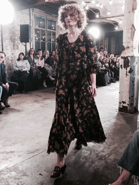 Flowing florals recall the 1970s. Picture: Bel Jacobs.