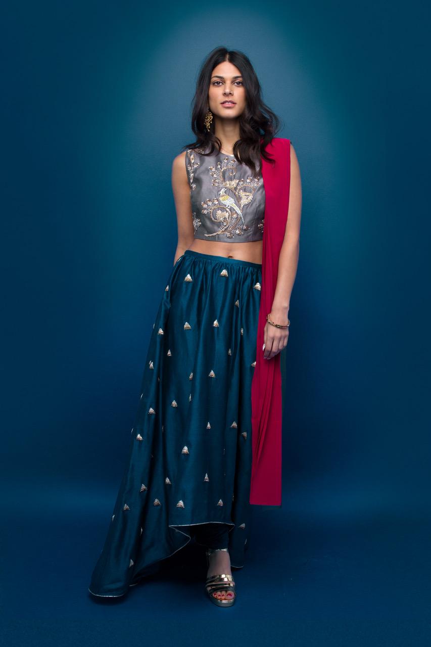 Nina skirt set, £470.