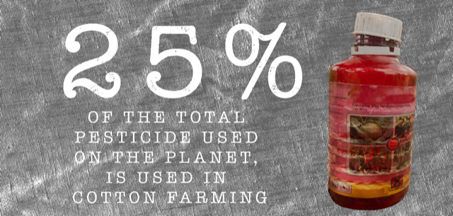 Conventionally grown cotton is heavily reliant on dangerous pesticides and yet it goes into 60 per cent of women's clothes.