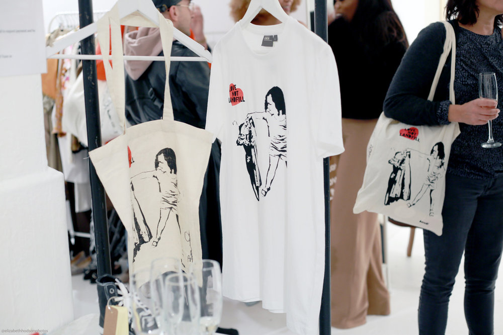 T-shirts featuring graffiti artist Bambi's bespoke TOMBOY design, created for #LoveNotLandfill