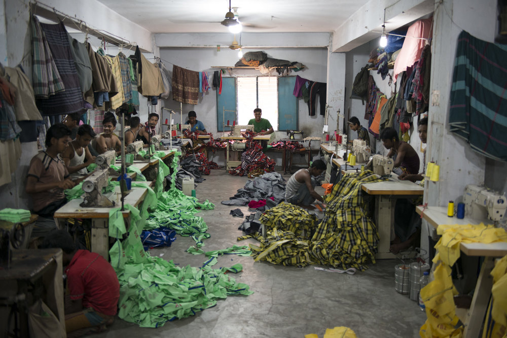 An informal garment factory located on the outskirts of the center of Dhaka. Picture: Claudio Montesano Casillas.