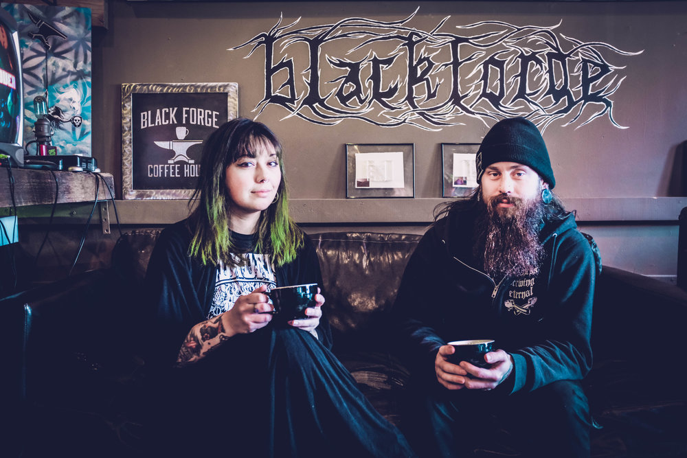 Ashley Corts and Nick Miller, owners of Black Forge Coffee House in Allentown, PGH, PA.