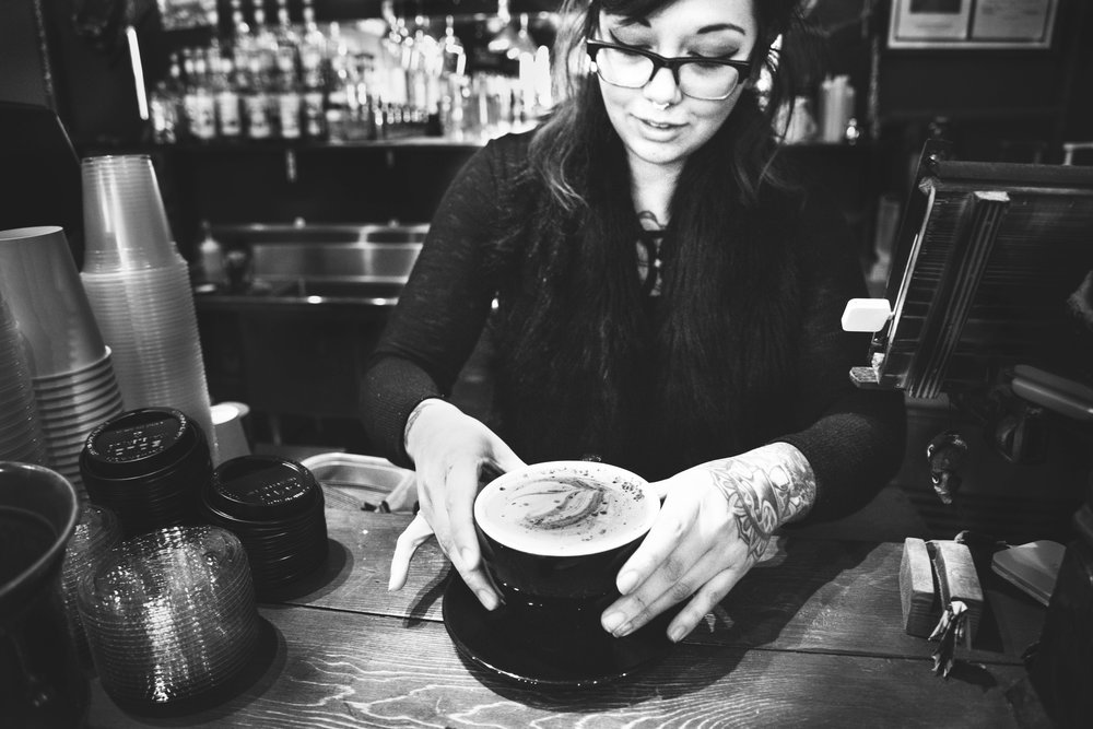 Ashley Corts, co-owner of Black Forge Coffee House.