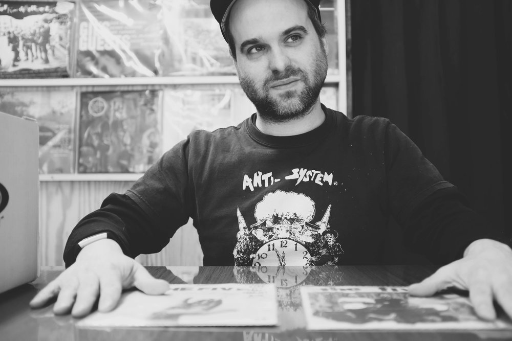 Skull Records owner and vinyl enthusiast, Dusty.