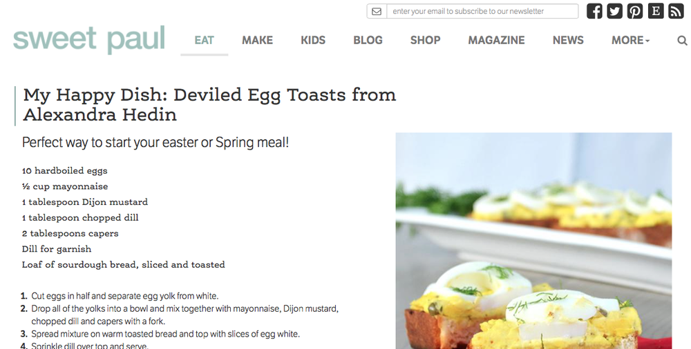 Sweet Paul Magazine - My Happy Dish : Deviled Egg Toasts