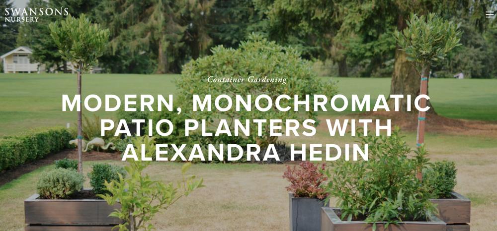 Swanson's Nursery - Monochromatic Planters