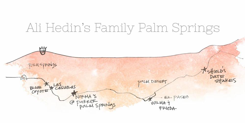 Ali Hedin Palm Springs Map