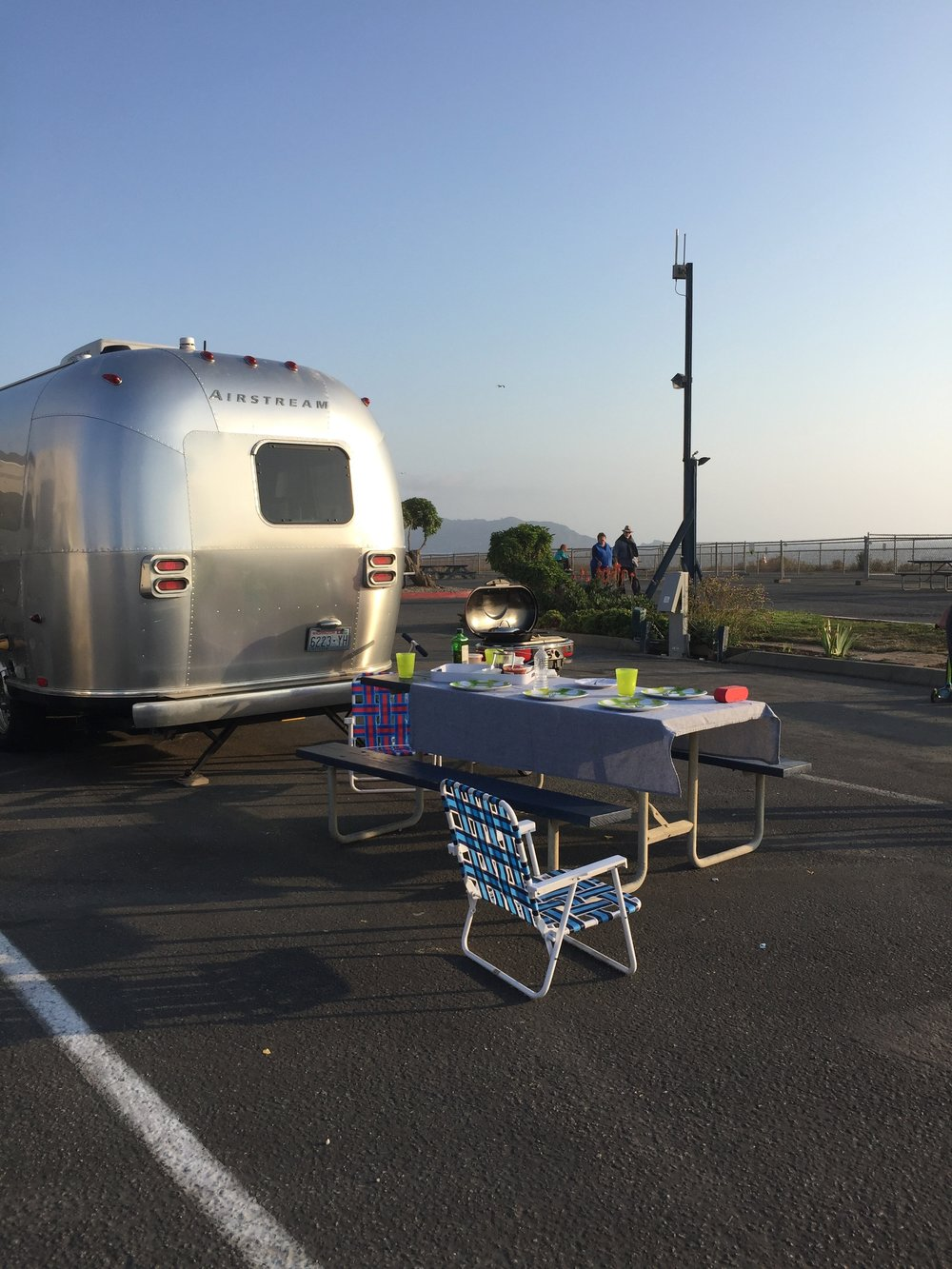 RV Park Camping is not as glamorous as the trees, but when you're just outside of San Francisco, your options are limited.