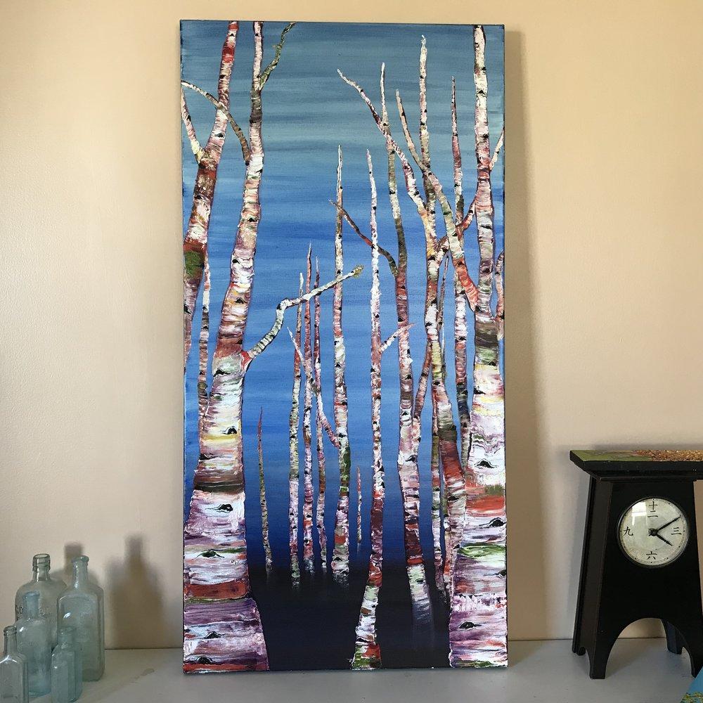 The Aspen Series - 2'x4'. oil on canvas