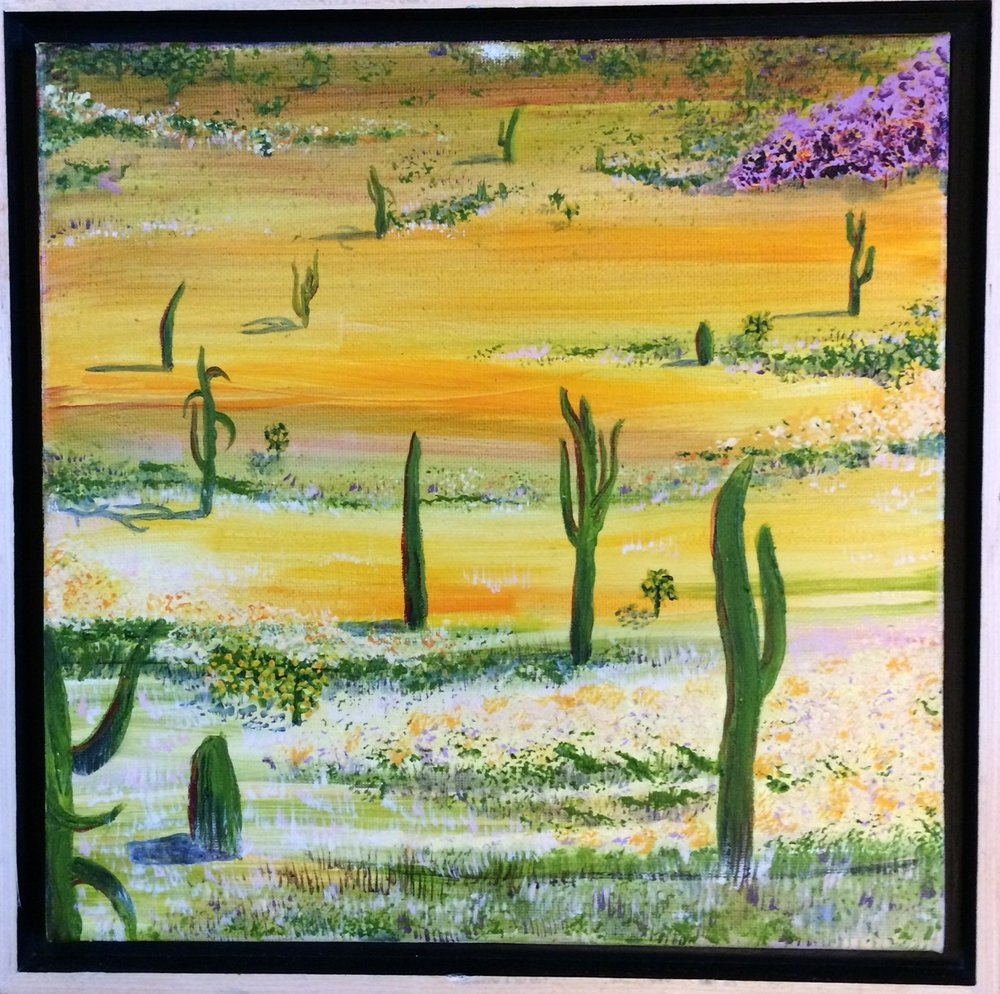 Sonoran Sunrise/Sunset - Series1' x 1' ,oil on canvas$350