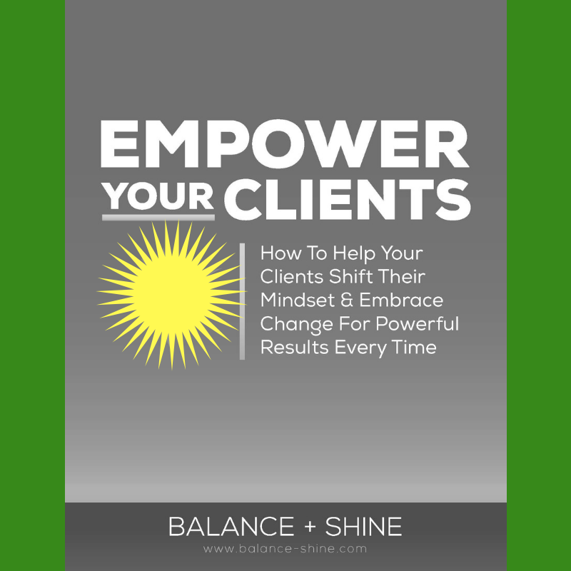 Do you feel frustrated, overwhelmed or worried you won't be able to help your clients get the result they want?Click on the guide to download this free coaching tool I created just for you that teaches you exactly how to lead and empower your clients to success every time! -