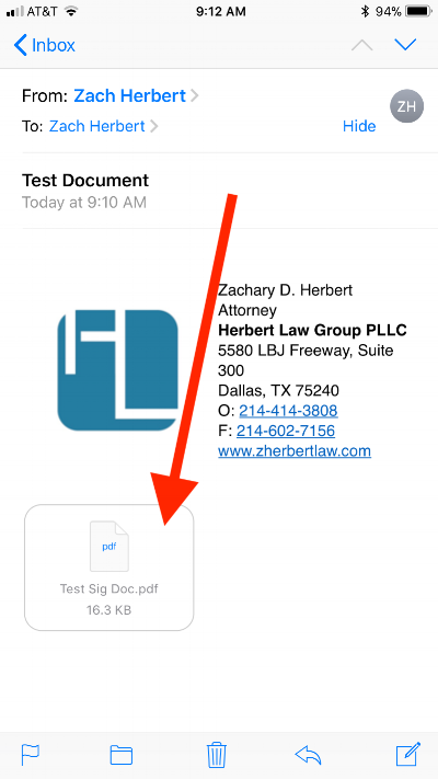 how to sign documents on your iphone with the mail app — herbert law
