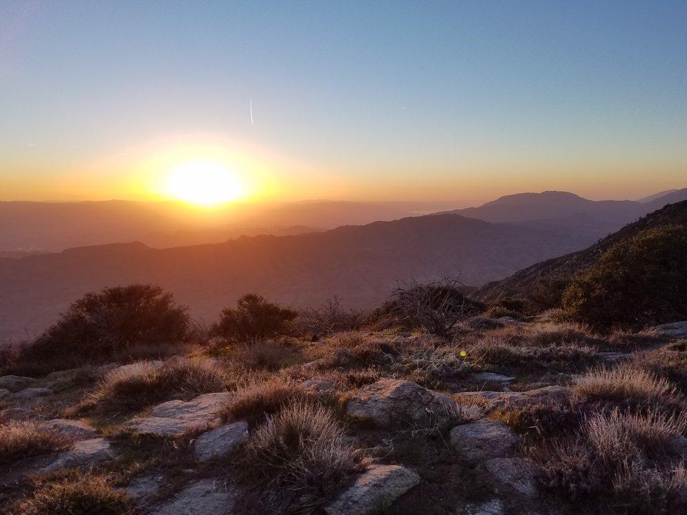 Sunrise near Pyramid Peak.
