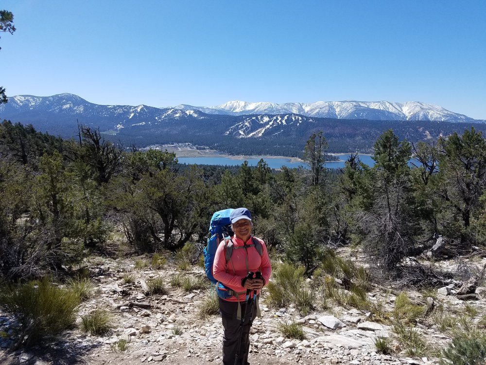 Mom high above Big Bear Lake
