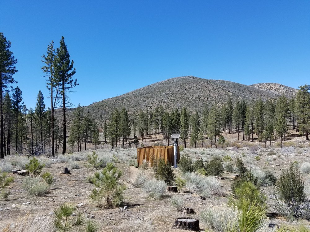 Random solar powered wilderness outhouse?! Yes, please!