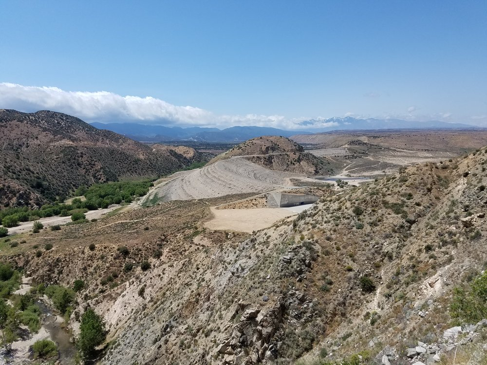 Deep Creek and the Mojave River Forks Reservoir Spillway.