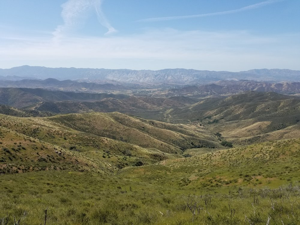 Beautiful views from the Leona Divide.