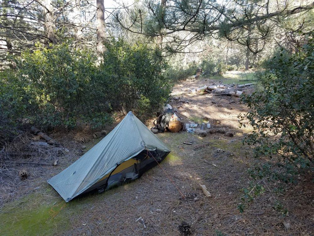 Camp at the Maxwell Guzzler.