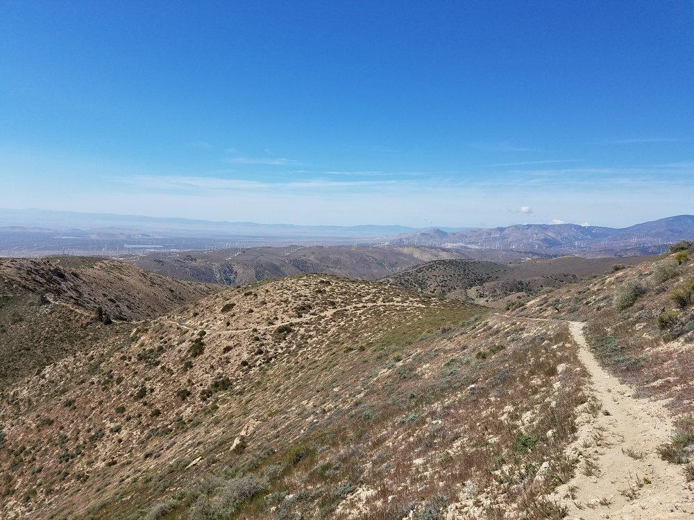 Big views down to Mojave