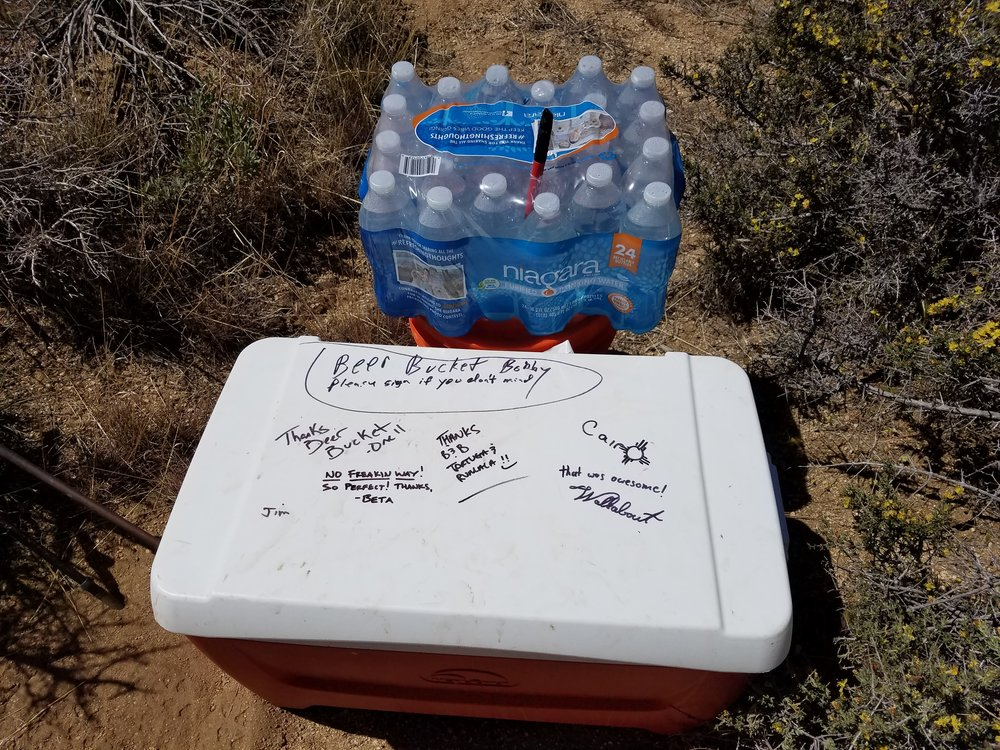 Is there a more beautiful sight than ice cold mystery beer in the middle of the desert?