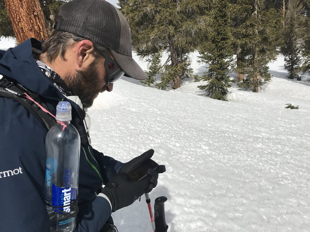 Not sure what I was doing here. Navigating through the snow? Trying to find a potential water source? Selling all my backpacking gear on eBay?