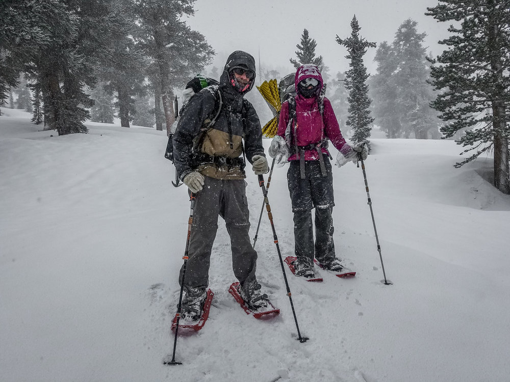 Road Dog and Vagabond Runner. Snowshoe'd up!