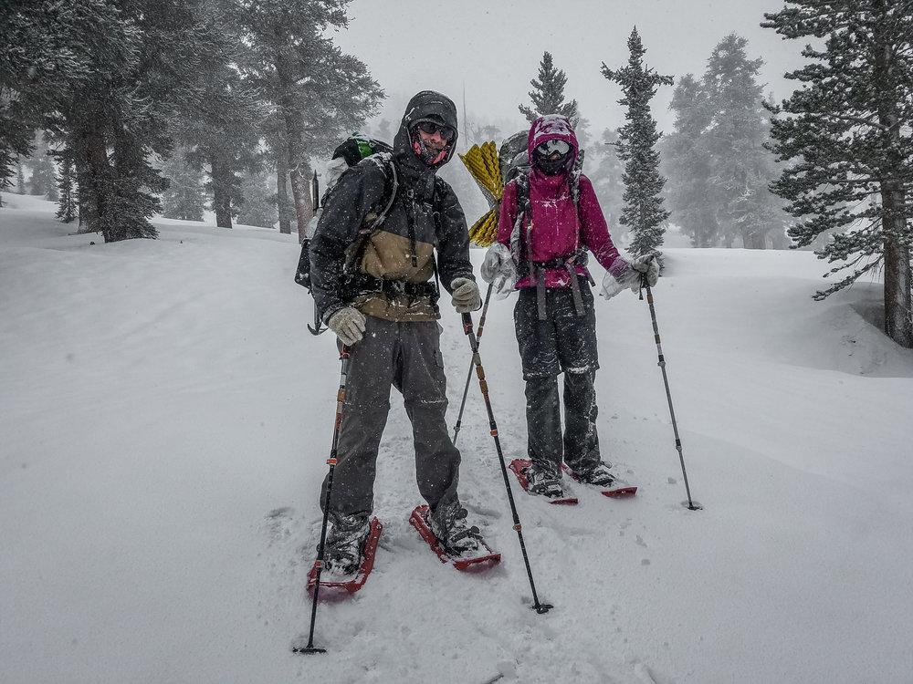 Road Dog and Vagabond Runner. Snowshoe'd up!