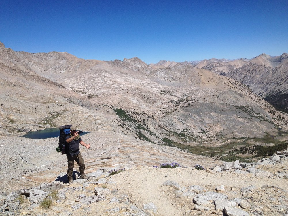 June 2014 - North of Forester Pass, looking down into the Bubbs Creek drainage.